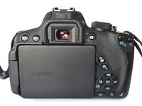 Canon 700D 18MP Digital SLR camera with 18-55mm and 50mm Lenses