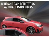 Vauxhall Astra H Mk5 inc VXR All 3dr Models SNED Smoked Wind & Rain Deflectors Front Set 2pcs