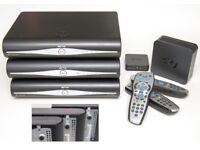 3x Sky HD Boxes, One with Built-In Wi-Fi, The One with a Wi-Fi Connector & One Standard Box & Modem