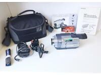 SONY HANDYCAM 560X DCR TRV145E DIGITAL 8 VIDEO RECORDER WITH BAG & ACCESSORIES