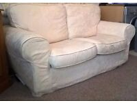 TWO SEATER SOFA SETTEE GREAT CONDITION, CREAM, VERY COMFORTABLE, BARGAIN ONLY £60
