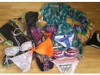 Bundle of women's bikini and beach covers size 12