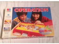 OPERATION BOARD GAME BY MB GAMES VINTAGE 1996 EDITION. COMPLETE AND VGC.