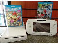 Nintendo Wii U | 8GB | White Console with Mario Kart 8 & Mario Party 10