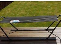 Black free standing hammock