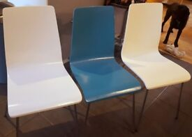 Blue and White John Lewis Dining Chairs For Sale, 6 Chairs £25