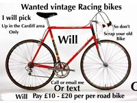 Wanted vintage Raleigh racing bike
