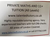 Private Maths (upto GCSE) and 11+ tuition. Talented Tutors