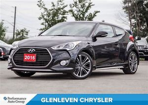 2016 Hyundai Veloster Turbo, NAV, Panoramic Sunroof, Leather Hea