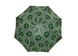 vintage black green greek anthenian roman horse + rider retro umbrella parasol