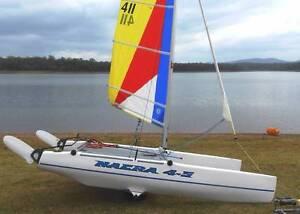 NACRA 4.5m Catamaran Sail #411 Sandgate Brisbane North East Preview