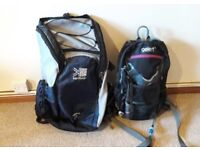 2x Hiking Backpacks with Hydration Pack