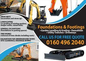 Mini Excavator and Operative For Hire