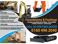 Mini Excavator and Operative For Hire