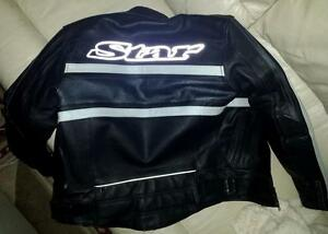LEATHER ARMOURED MOTORCYCLE JACKET ARMOUR AND LINER