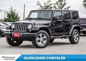 2016 Jeep WRANGLER UNLIMITED Sahara, NAV, Remote Start, Clean Ca