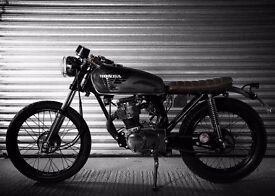 Honda CG125 — Cafe Racer / Brat / Rat — Awesome first bike, rides great, looks great! Head turner.