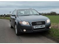 Audi Avant A4 Estate 2007 in Dolphin Grey - full service history, 2 lady owners, 12 months MOT