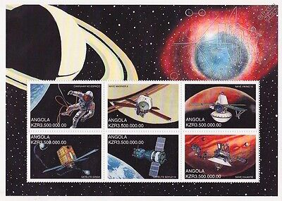 SPACE EXPLORATION Spacecraft/Probes/Satellites Stamp Sheet (1999 Angola)