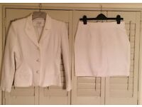 MODA INTL Vintage White Skirt Suit Size 12