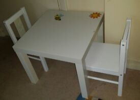 Ikea Kritter Child's Table and 2 Chairs