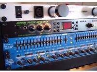 Samson S-Curve 215 - Dual Band Graphic Equaliser - With FREE 8 x Channel Jack-to-Phono Cable Loom