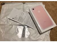 SIM FREE APPLE iPhone 7 ROSE GOLD 128GB BRAND NEW SEALED