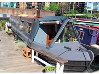 Narrow boat, canal barge, live aboard, floating home, London