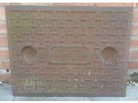 Old Cast Iron Manhole Cover
