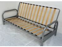 3 Seater Metal Action Futon Sofabed Frame Sofa Settee Bed