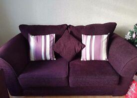 2 & 3 purple fabric suite