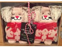 Cute Rabbit Hand Warmers NEW/Boxed