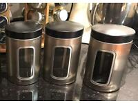 QUALITY BRABANTIA CANISTERS & UTENSIL JAR