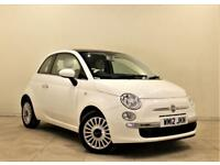 FIAT 500 1.2 LOUNGE 3d 69 BHP + 1 PREV OWNER + SERVICE HISTORY (white) 2012