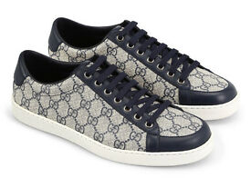 Gucci-Blue--Lace-Up-Sneakers Brand New. Size 6