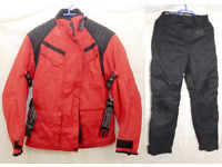 FRANK THOMAS Women's Motor Cycle Suit Worn Once S Jacket & Trousers