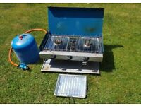 Camping Stove and spare full gas bottle