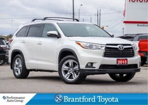 2015 Toyota Highlander Limited, One Owner, Off Lease, Blizzard P