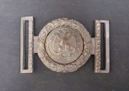 Civil War U.S. Navy 2 Piece Buckle REPRODUCTION With Glass Case