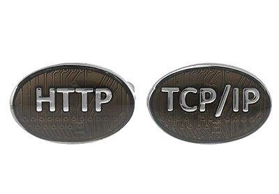Http Tcp Ip Internet Cufflinks Computer Wedding Fancy Gift Box Free Ship Usa