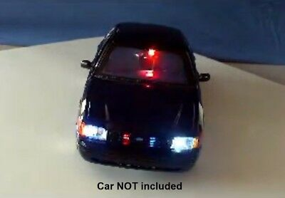 Diecast Police LED Lights and Siren. Modify your own model or R/C car! 19 LED's!