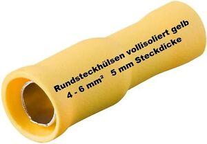 Contera-redonda-amarillo-4-0-6-0-mm-Terminales-de-cable-NUEVO