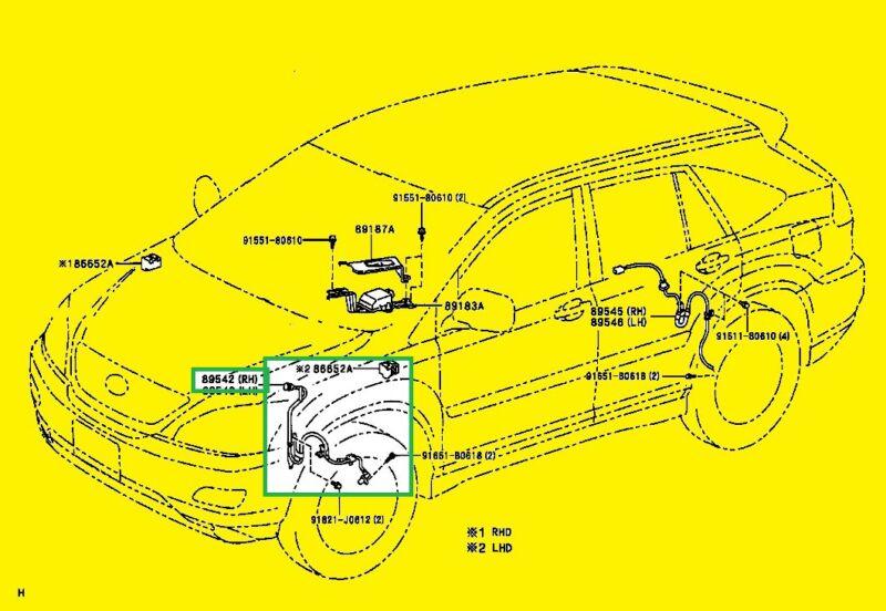 LEXUS RX300 GENUINE SPEED SENSOR ABS 89542-48010  FRONT RH