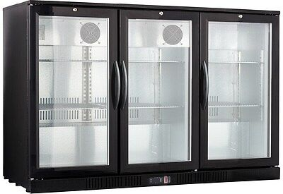54 Wide 3-door Glass Back Bar Beverage Cooler - Beer Fridge - Refrigerator