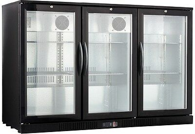 54 Wide 3-door Back Bar Beverage Cooler Free Shipping