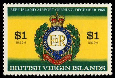 """VIRGIN ISLANDS 197 (SG231) - Beef Island Airport """"Royal Engineers Badge"""" (pa6484"""