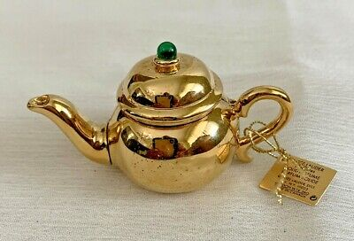 Estee Lauder Solid Perfume Compact Little Tea Pot No Box
