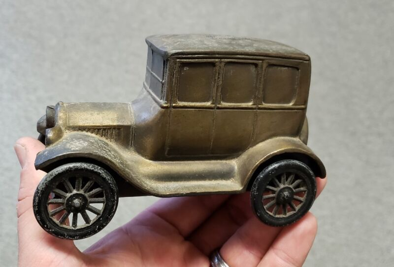 Vintage Corydon State Bank 1926 Ford Metal Car Coin Bank Indiana IN Model T