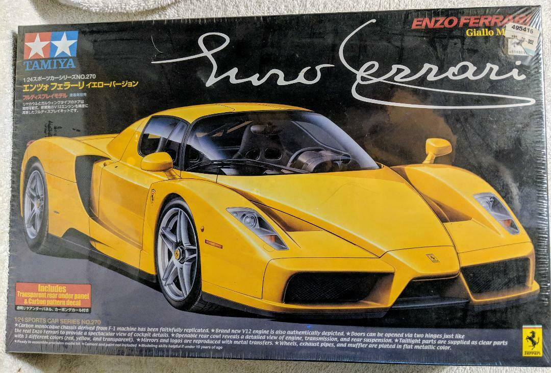 Enzo Ferrari Giallo Modena 1/24 Item 24270 3200 Tamiya Factory Sealed No. 270 - $45.00