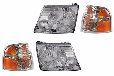 NEWMAR MOUNTAIN AIRE 2004 2005 2006 HEADLIGHTS HEAD LIGHTS SIGNAL LAMPS SET RV
